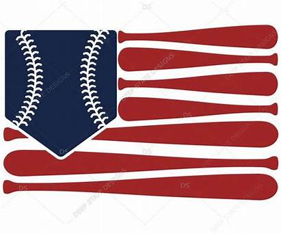 Flag Svg American Baseball