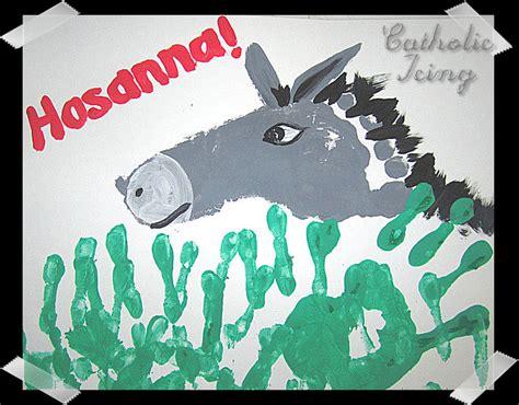 lenten activities for children 395 | donkey palm sunday handprint footprint craft1