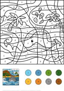 Whale Color by Number Free Printable Coloring Pages