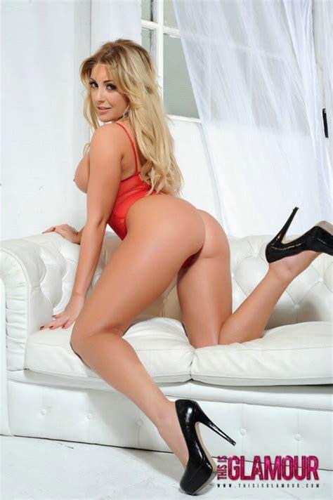 Ashley Emma See Thru Bodysuit Beautiful Busty