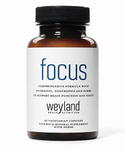 Focus Support Supplement With Vitamins  Minerals  Herbs And Nootropics  Free S U0026h