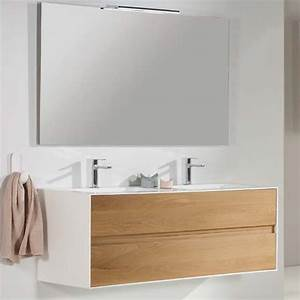Meuble Double Vasque Suspendu : meuble suspendu 2 tiroirs moss configurable ~ Melissatoandfro.com Idées de Décoration