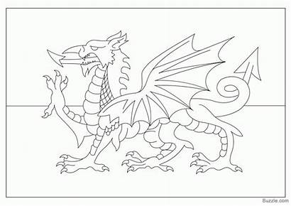 Welsh Flag Coloring Dragon Pages Colouring England