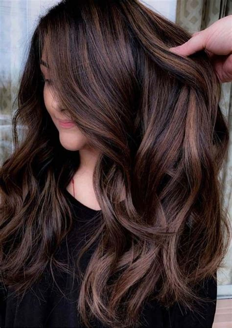 gorgeous brunette balayage highlights  women