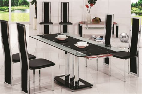 glass table six chairs 8 chair glass dining table gallery dining