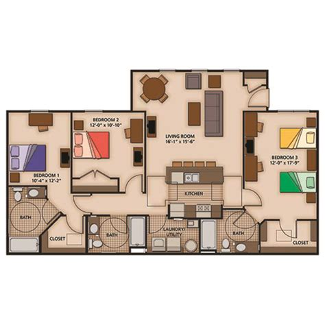 2 Or 3 Bedroom House For Rent by 2 3 And 4 Bedroom Apartment Floor Plans Capstone Quarters