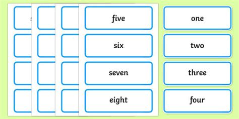 Reception Word Cards Primary Resources