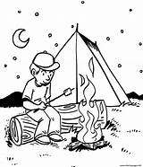 Coloring Place Pages Camping Printable sketch template