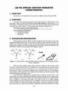 7  Bipolar Junction Transistor Characteristics 1