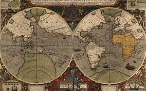 Old World Map Desktop Wallpaper