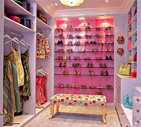 walk in closet color ideas spacious walk in closet with pink accent wall dream closets pinterest shoe display