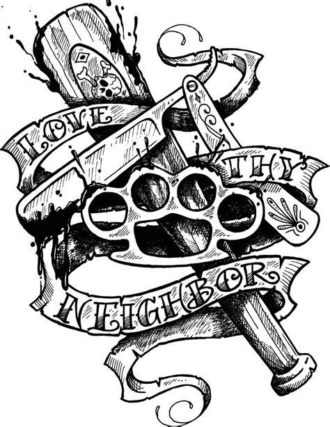 traditional tattoo clown flash | Neighborly «Line drawing «Other «Tattoo, tattoo design art