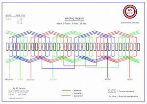 36 Slot Motor Winding Diagram