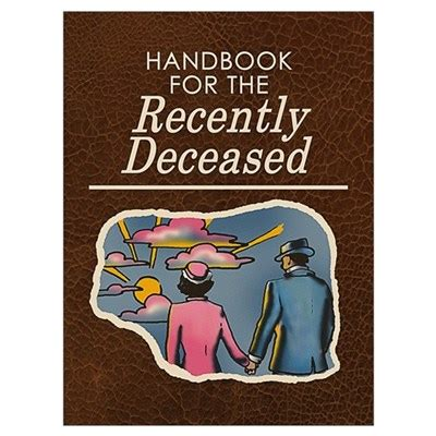 handbook for the recently deceased phone handbook for the recently deceased wall poster