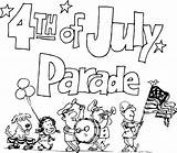 Parade 4th July Clipart Clip Coloring Pages Drawings Fourth Floats Cliparts Happy Iclipart Shore Banner Hofman Homes North Gun Disney sketch template