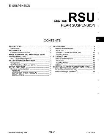 2005 Nissan Xterra - Rear Suspension (Section RSU) - PDF