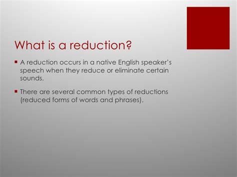 Spoken English Reductions
