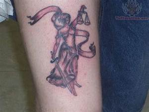 Justice Lady With Scales Tattoo