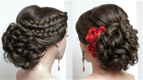 Braid Hairstyles For With Hair by Bridal Hairstyle For Hair Tutorial Wedding Updo With