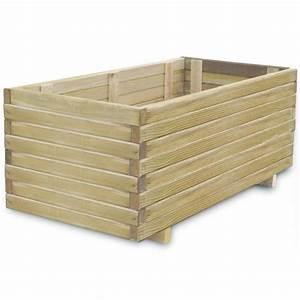 Aufbewahrungsbox 50 X 40 : jardini re en bois rectangulaire 100 x 50 x 40 cm achat vente jardini re pot fleur ~ Markanthonyermac.com Haus und Dekorationen