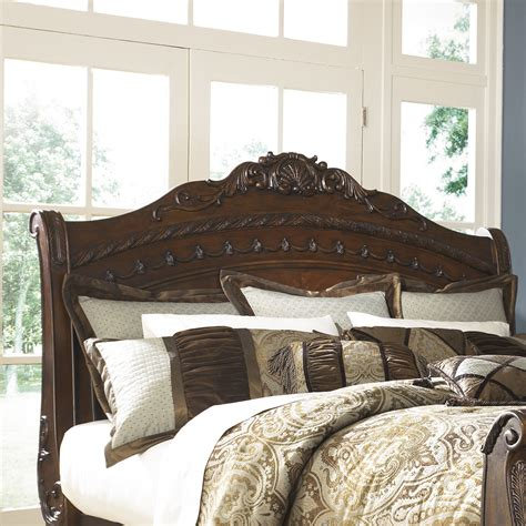 shore sleigh bed signature design by shore sleigh bed