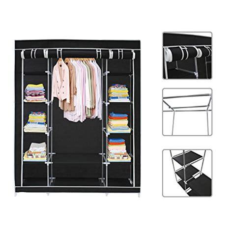 Black Clothes Wardrobe by Black Canvas Fabric Wardrobe Clothes Storage Organiser