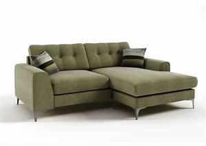 Canapé D Angle Vert : canap d 39 angle en tissu de qualit ervin vert mobilier priv ~ Teatrodelosmanantiales.com Idées de Décoration