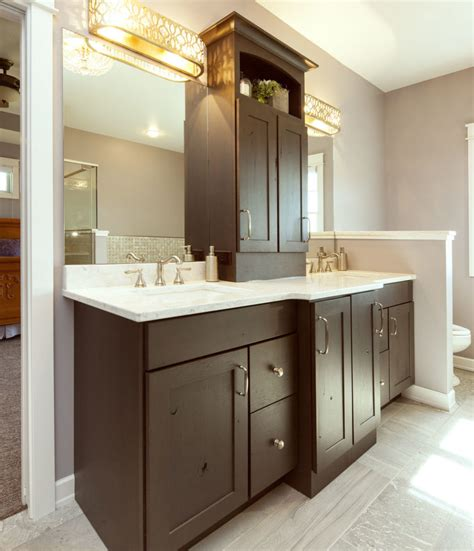 double sink vanity  storage galleries projects