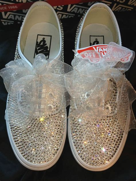 adults swarovski crystal vans exclusive   wedding    tired  walking