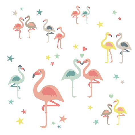 Flamingo Wandtattoo Kinderzimmer by Wand Kinderzimmer Wandsticker Flamingos Bei