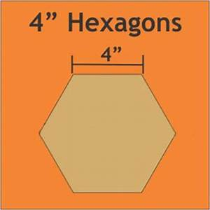 4 inch paper pieces hexagons pack of 16 templates for 4 inch hexagon template