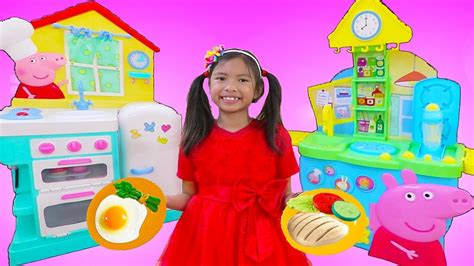 Wendy Pretend Play Cooking Food W/ Peppa Pig Restaurant Kitchen Oven & Refrigerator Toys