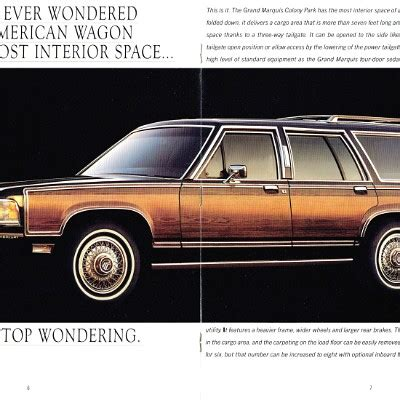 car repair manuals download 1988 mercury grand marquis user handbook the old car manual project brochure collection