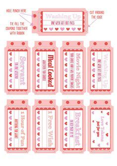 printable love coupons   instant