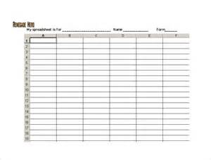 Free Blank Spreadsheets Blank Spreadsheet To Print Images Pictures Becuo