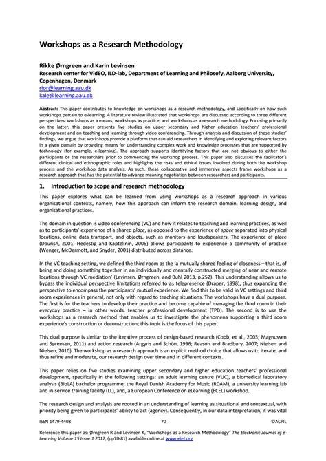 workshops   research methodology  academic conferences  publishing international issuu