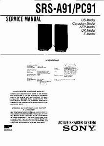 Sony Srs-a91  Srs-pc91 Service Manual