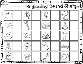 sensational stamps alphabet rhyming beginning middle