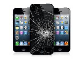 Broken iPhone Screen Cracked
