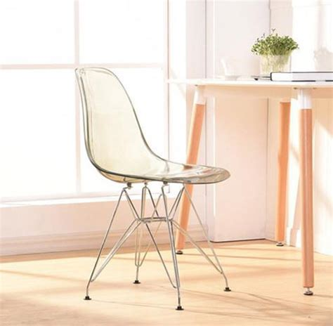 Transparent Clear Acrylic Dining Side Chair Plastic And