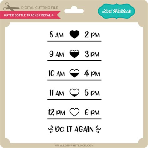 water bottle tracker decal  lori whitlocks svg shop