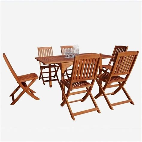 7 wood patio dining set v1561set2