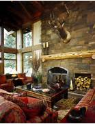 Rustic Cabin Living Room Ideas by Living Room Fireplace Rustic Living Room Portland By MCM Design