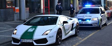 fake lamborghini vs real fake dubai police lamborghini gallardo meets real czech