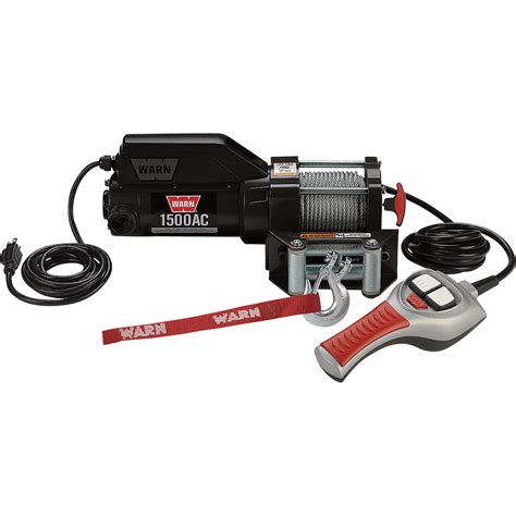 warn 120 volt ac powered electric utility winch 1000 lb warn 120 volt ac powered electric utility winch with wired remote 1500 lb capacity