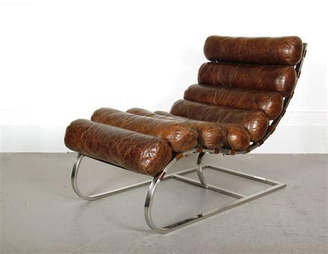 chaise longue en cuir design chaise longue en cuir waco vintage cigare fauteuils en