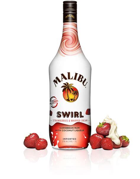 White creme de menthe, malibu rum, white creme de cacao, mint sprig. Malibu Swirl - Malibu Rum Drink