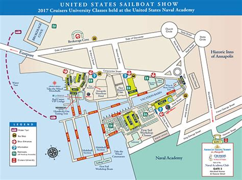 Annapolis Sailboat Show Layout by United Sailboat Show Show Layout