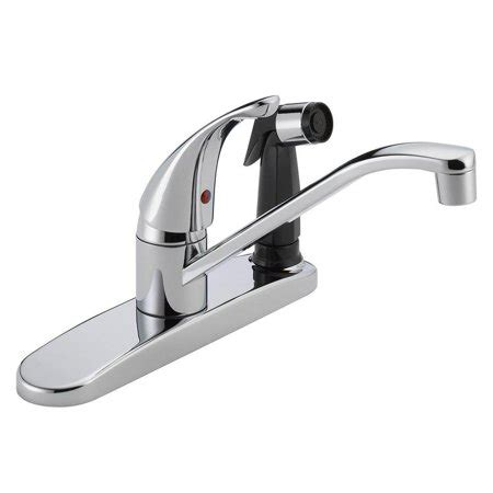 Peerless Kitchen Faucets At Walmart by Peerless P114lf Widespread Kitchen Faucet And Side Spray