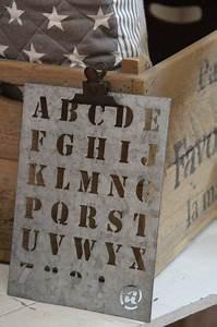 Buchstaben Schablone Metall : zinkschablone buchstaben von ib laursen stilkiste snuggles cottage manufactory ~ Frokenaadalensverden.com Haus und Dekorationen